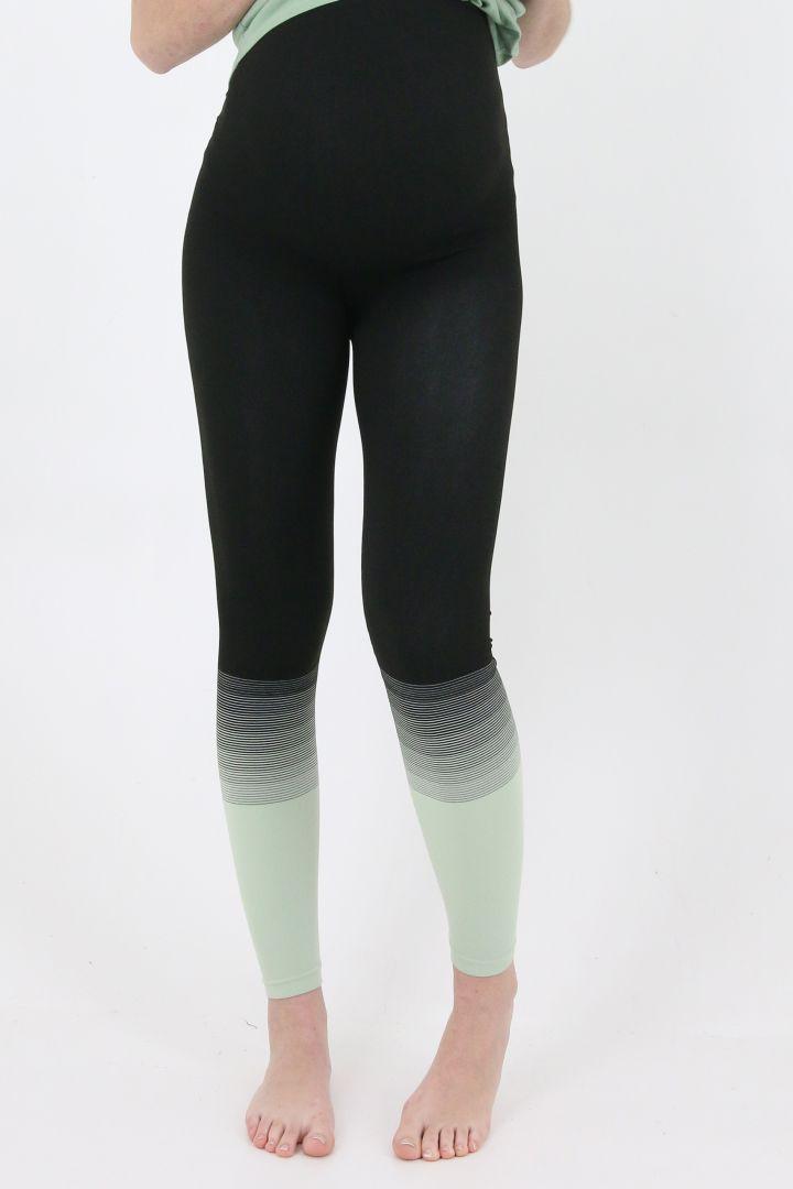 Dip Dye Active Maternity Leggings mint