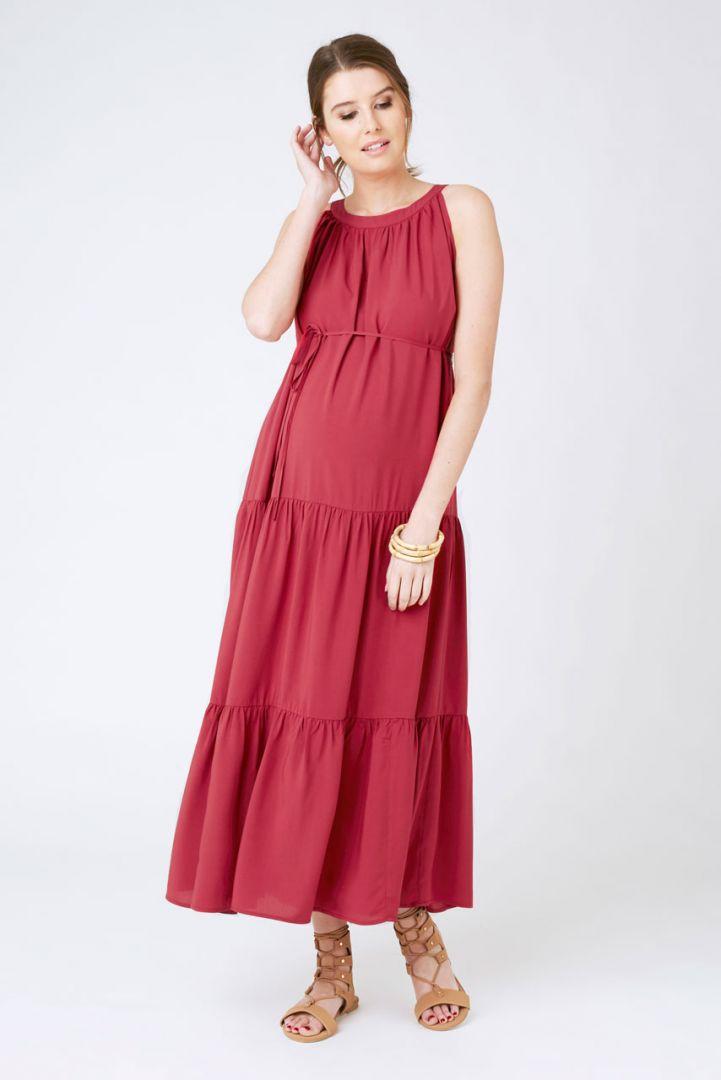 Panalled Maxi Maternity Dress