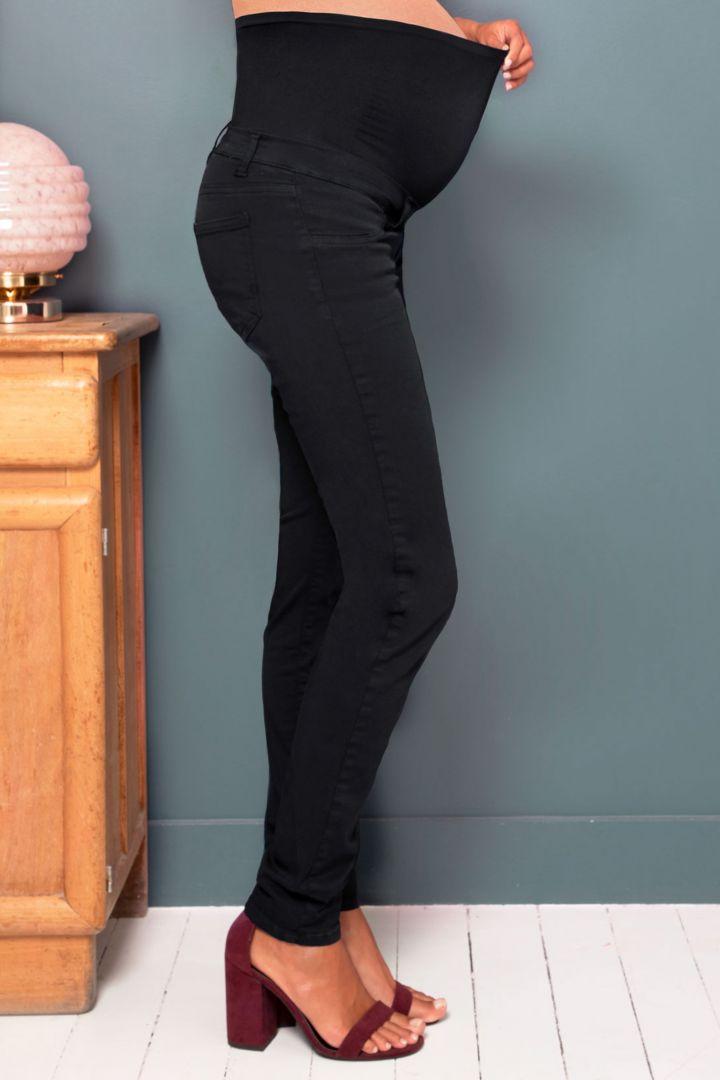Skinny Stretch Umstandshose schwarz