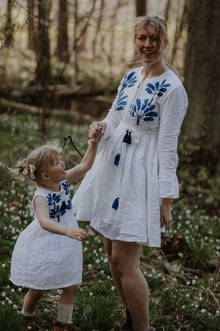 Umstands- und Still-Tunikakleid Oceanic White