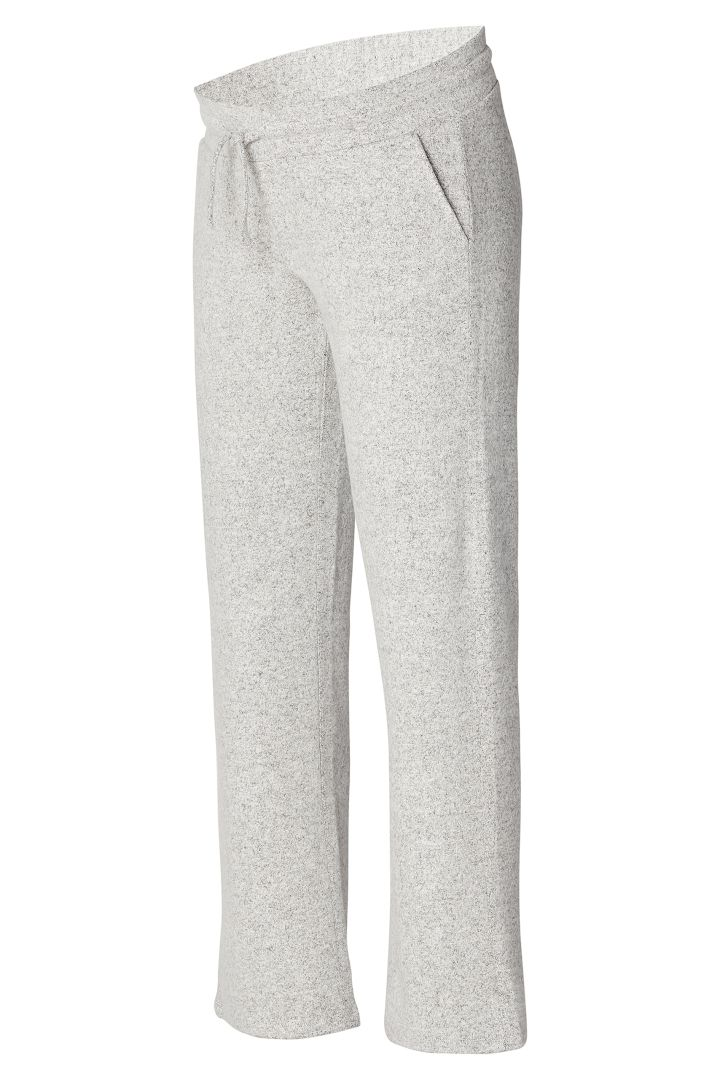 Ecovero Lounge Maternity Trousers Wide Leg grey