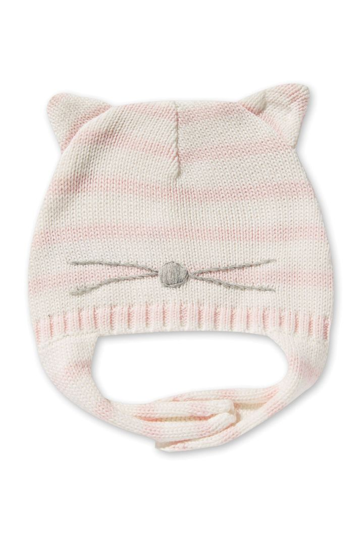 Babymütze mit Öhrchen Katze