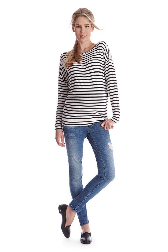 Miller striped Maternity and Nursing Shirt