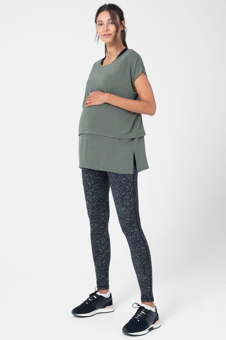 Active Umstands- und Stillshirt khaki