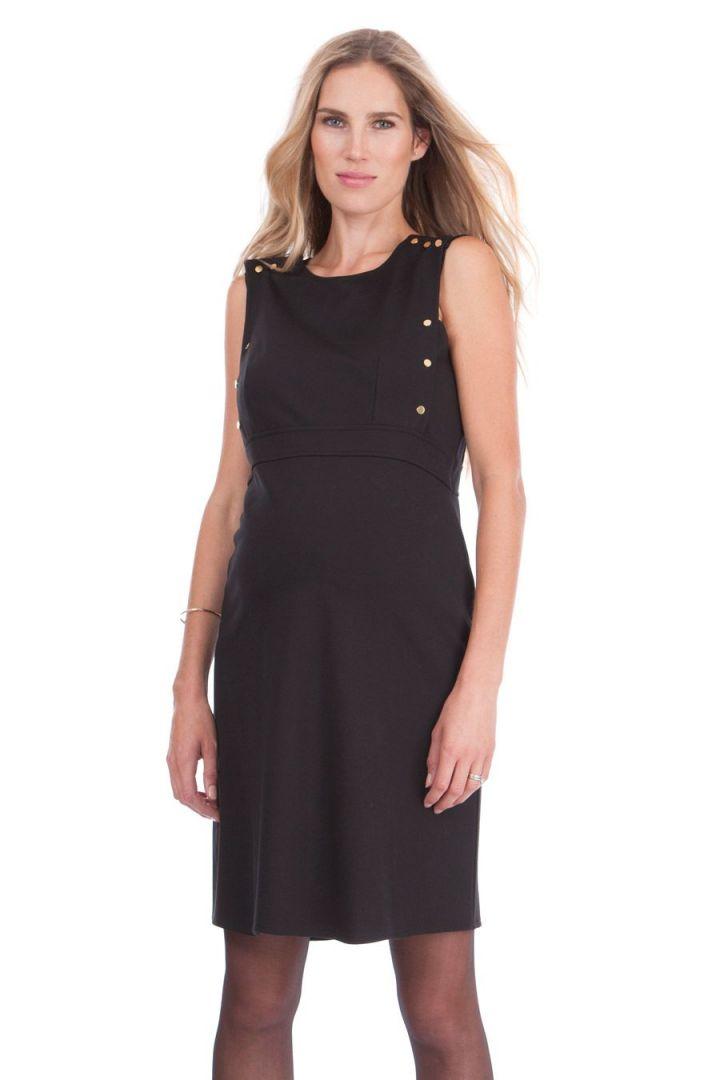 Ponte Maternity Dress with Nursing Access