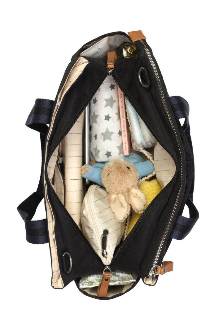 Schulter Reise-Wickeltasche schwarz
