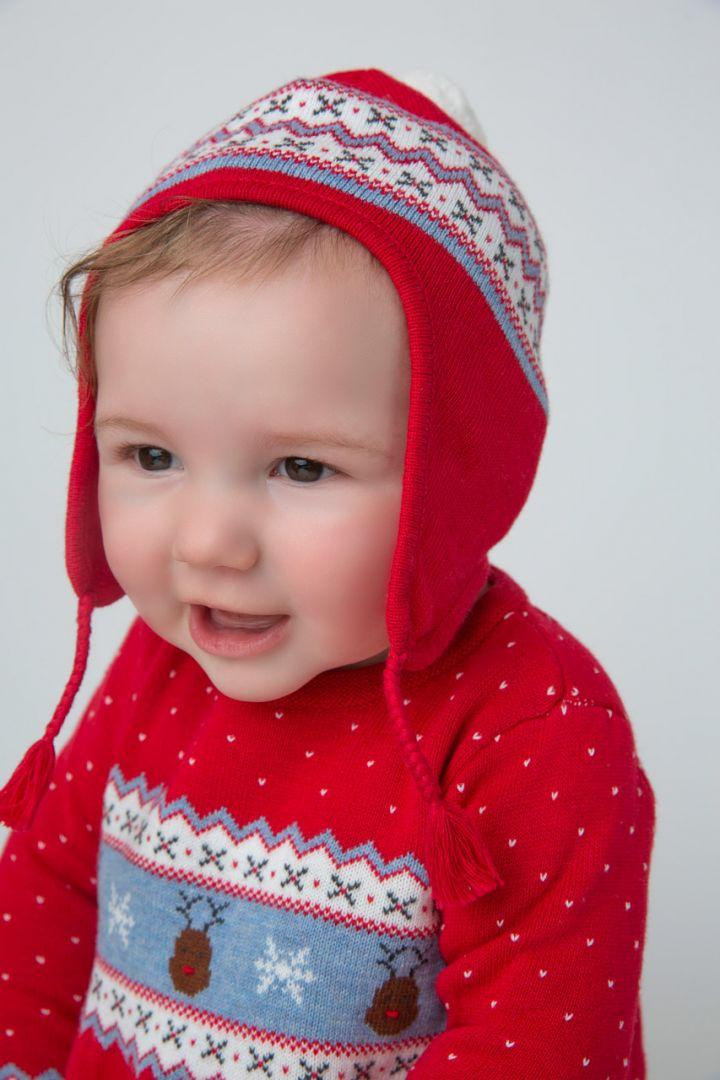 Babymütze Schneeflocke