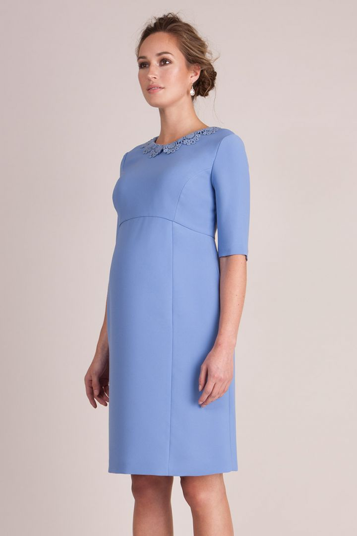 Crochet Collar Maternity Dress