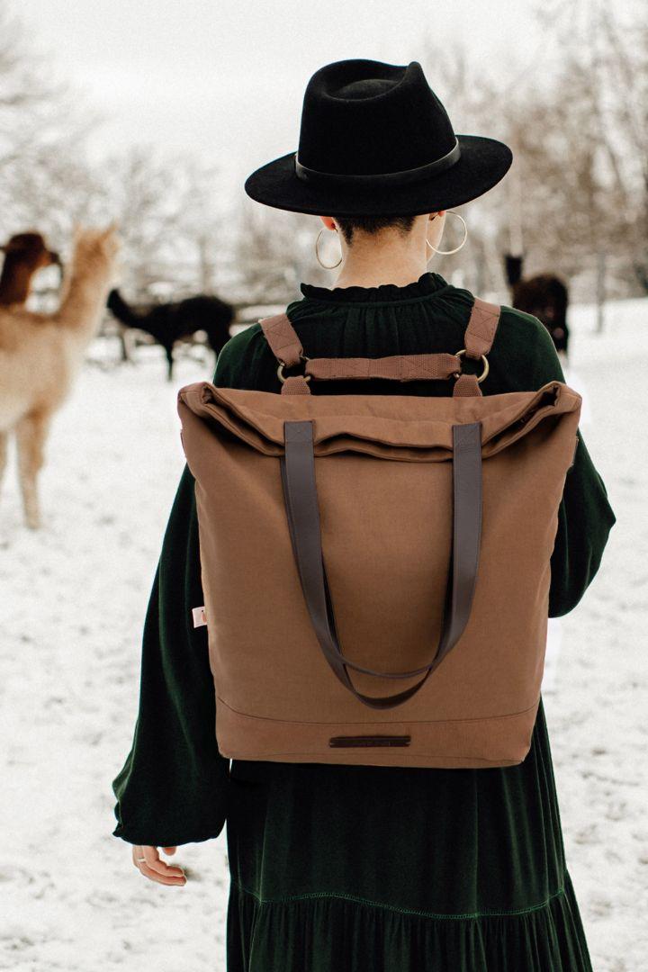 2 in 1 Wickeltasche und Rucksack Family Trip