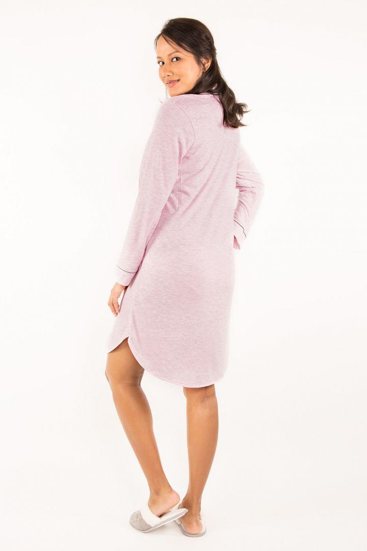 Umstands- und Stillnachthemd zum Knöpfen rosa