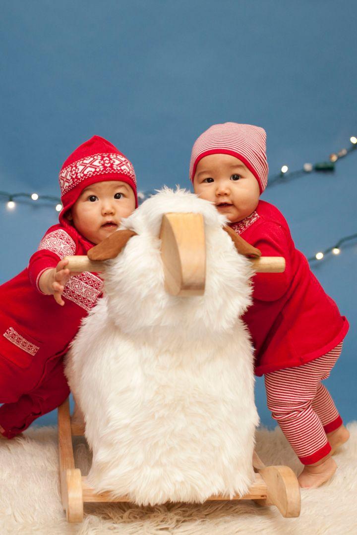 Weihnachts Snow Set Kleid und Leggings