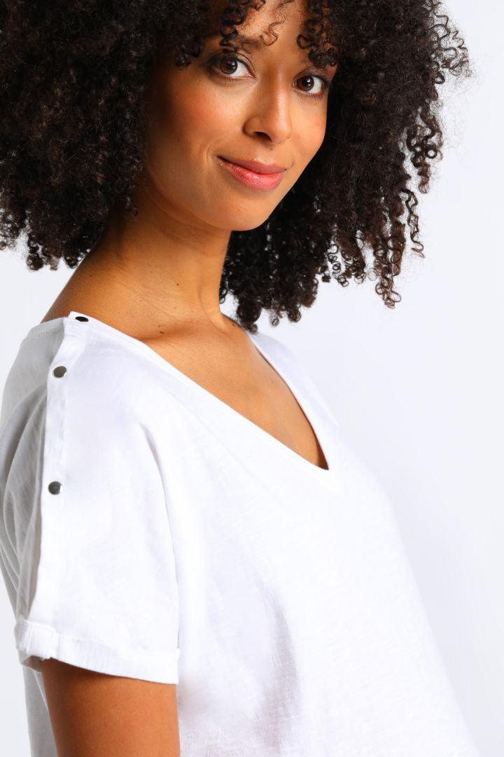 Organic Boyfriend Maternity and Nursing Shirt white