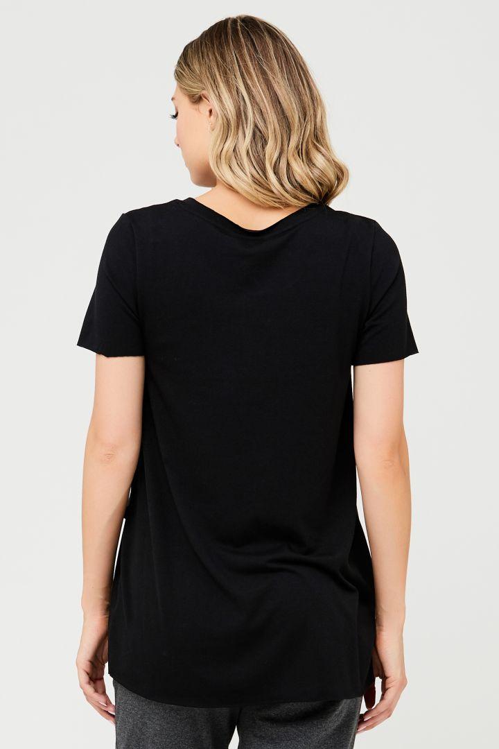 Raw Edge Umstands- und Stillshirt schwarz