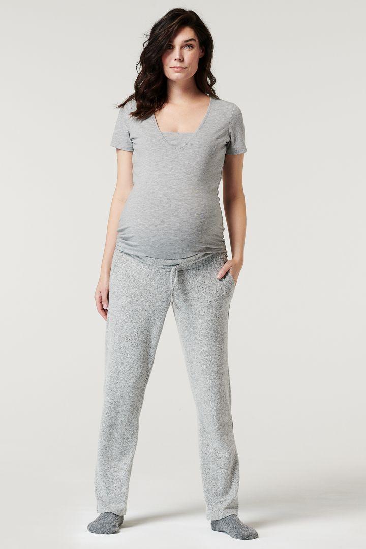 Lounge Maternity and Nursing Shirt with V-neckline