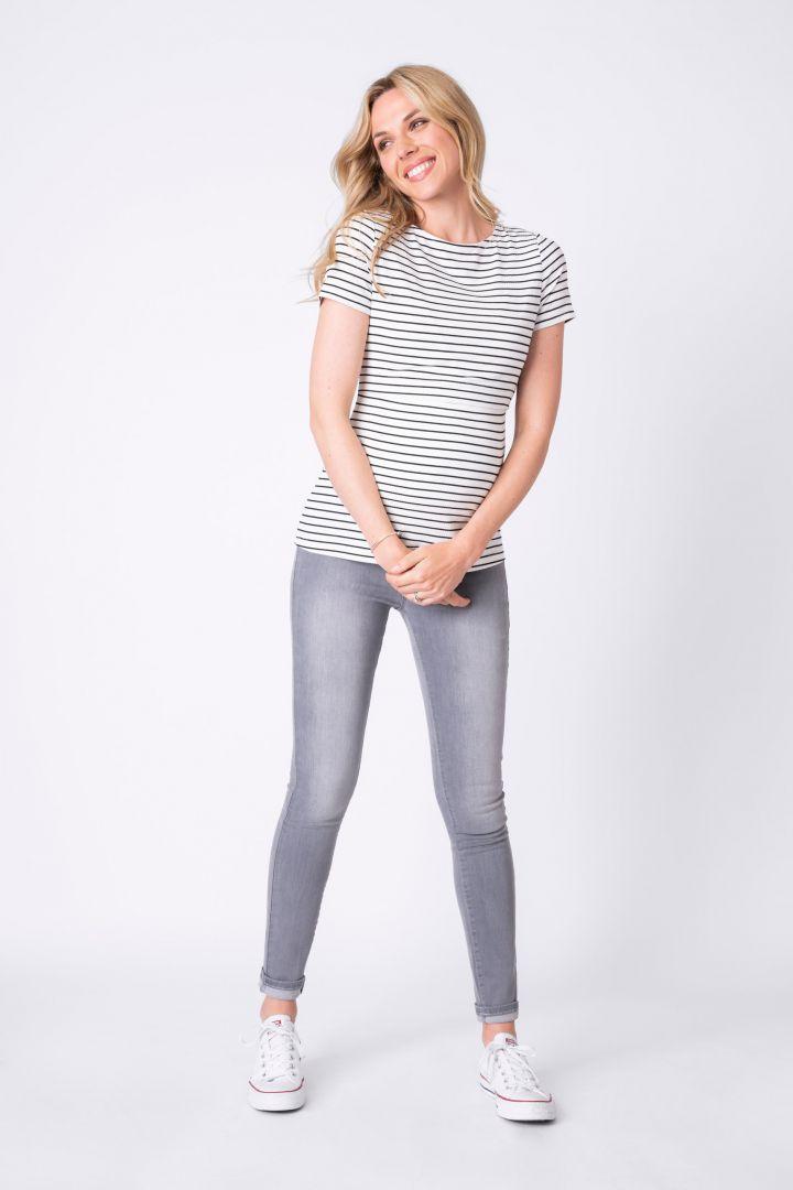 Streifen Umstands- und Stillshirt