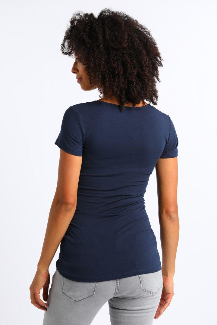 Umstands- und Stillshirt aus Bio-Baumwolle kurzarm navy