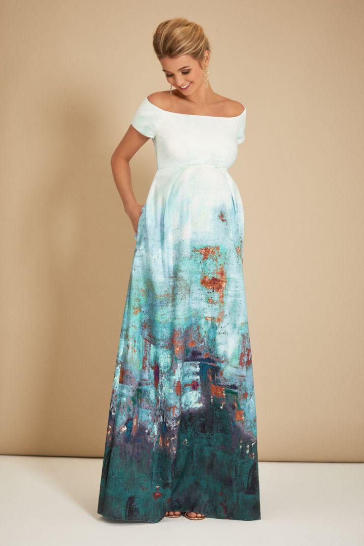 Maternity gown Aquatic Ombré