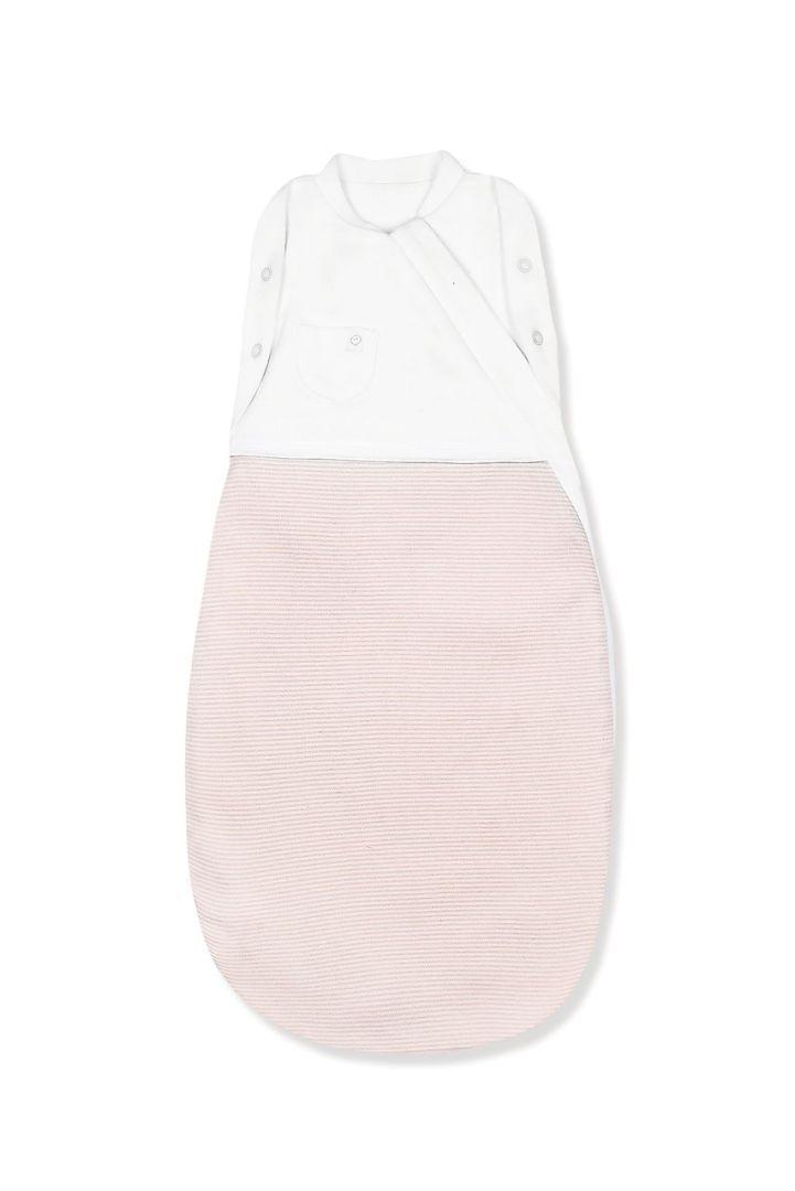 Organic Schlaf- und Pucksack Streifen rosa