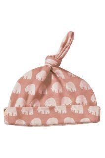 Eisbären Knotenmütze rosa aus Bio-Baumwolle