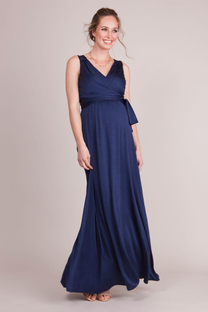 Maternity and Nursing Wrap Evening Dress