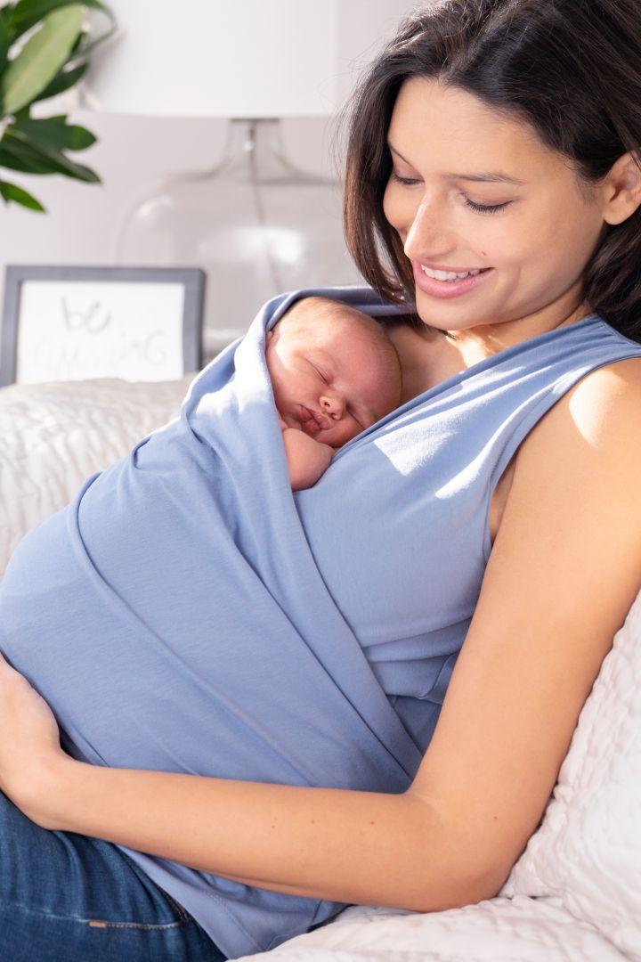 Skin to Skin Baby Bonding Top blau