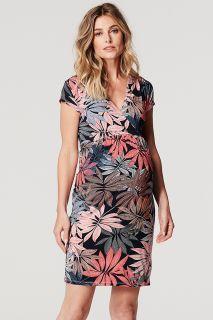 Umstands- und Stillkleid mit Blumenprint