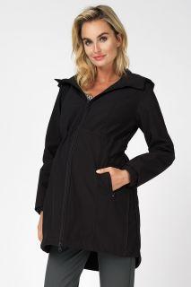 3 in 1 Umstandsjacke mit Babytrage-Einsatz schwarz