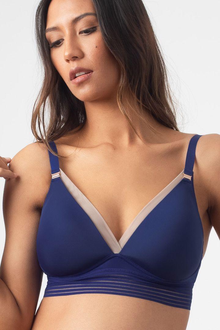 Triangle Maternity and Nursing bra, Dark Blue