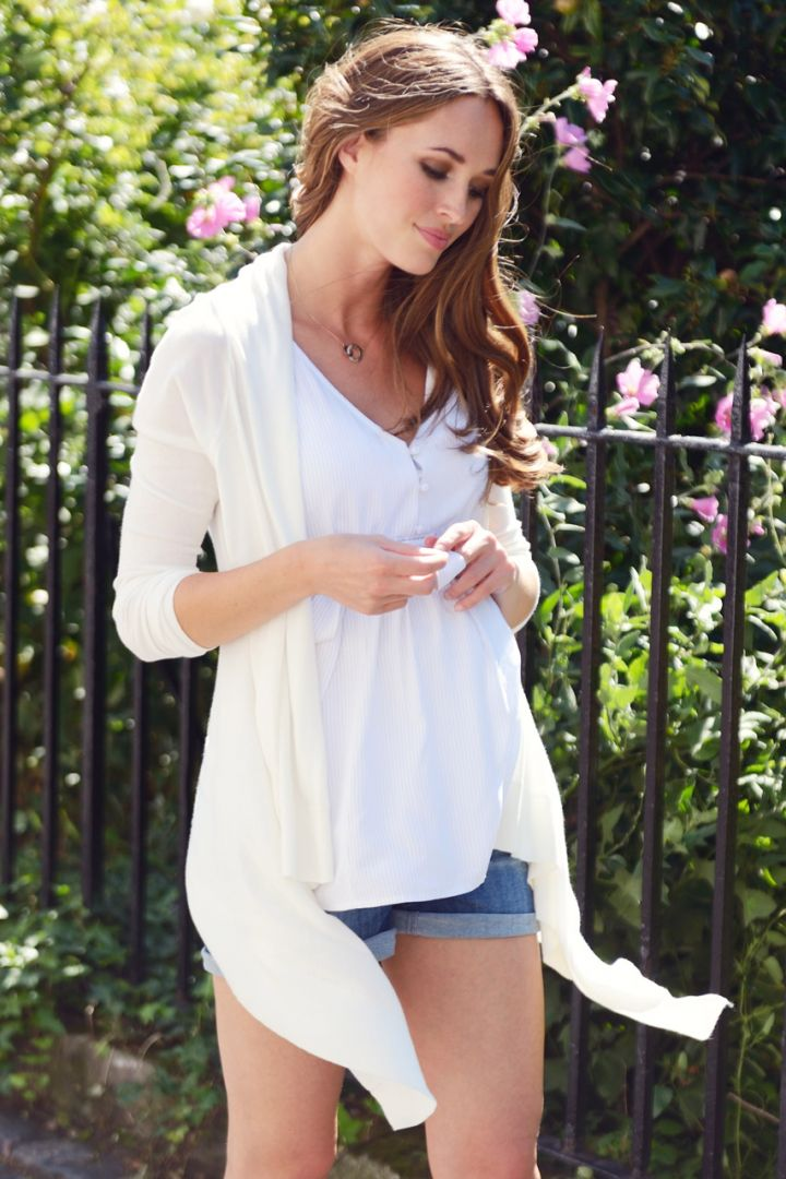 Maternity Top made from Viscose white