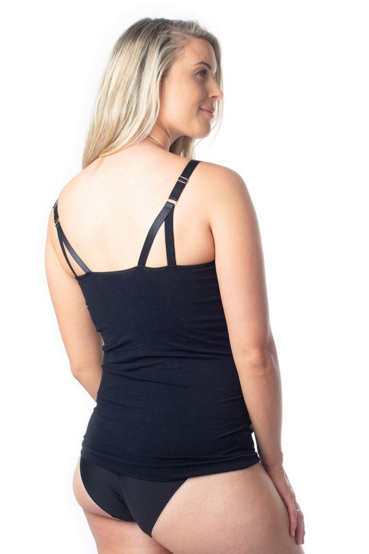 Seamless Maternity and Nursing Top with Integrated Bustier