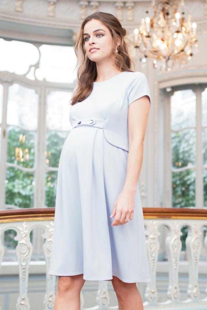 A-line Maternity Dress with Peplum