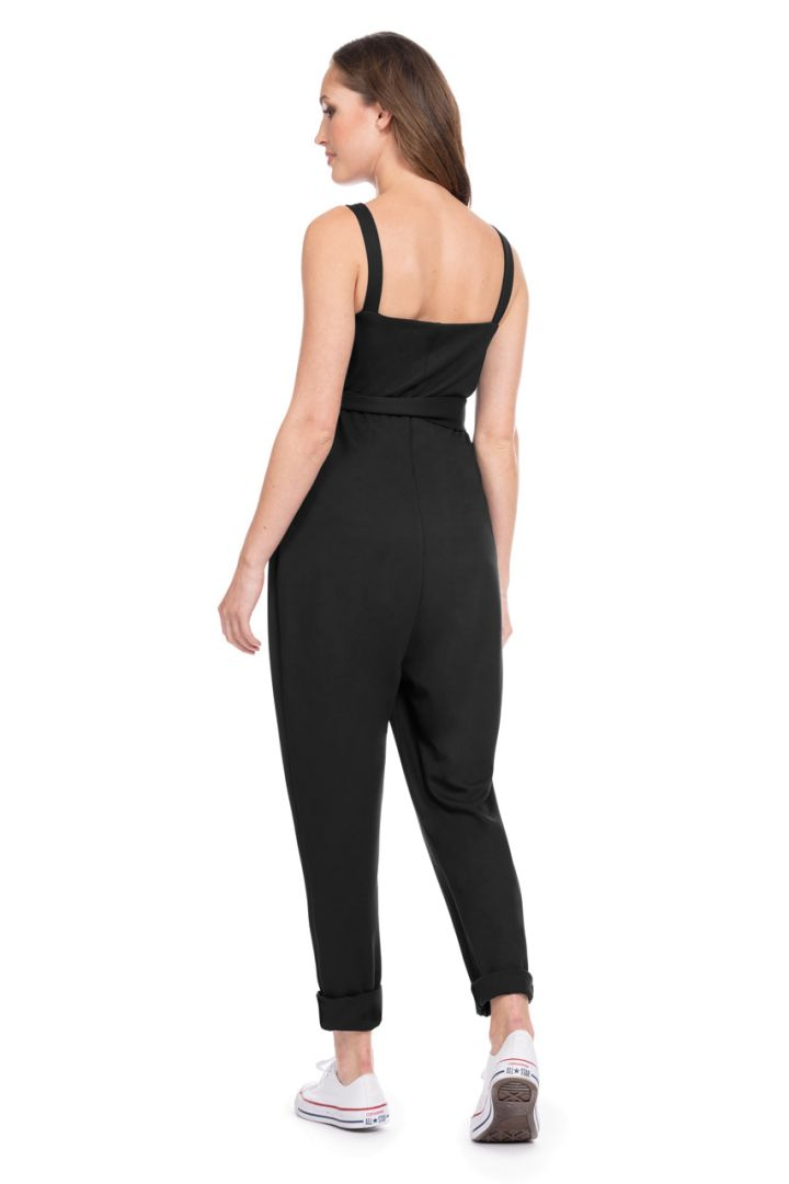 Maternity and Nursing Jumpsuit with Zip