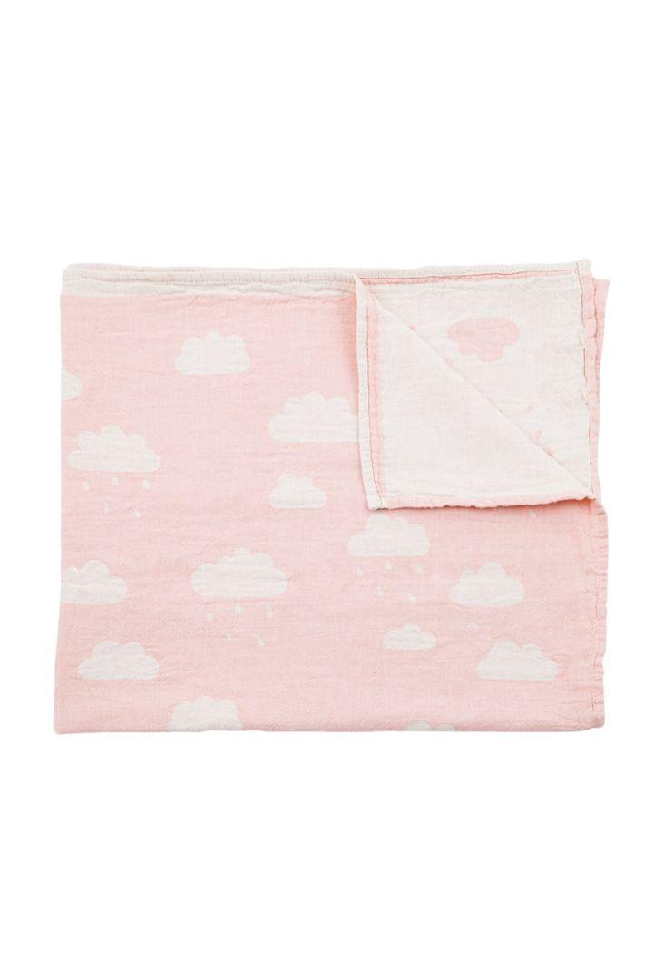 Babydecke Wolken rosa 160x90cm