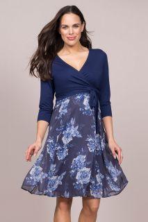 Umstands- und Stillwickelkleid mit Floralrock