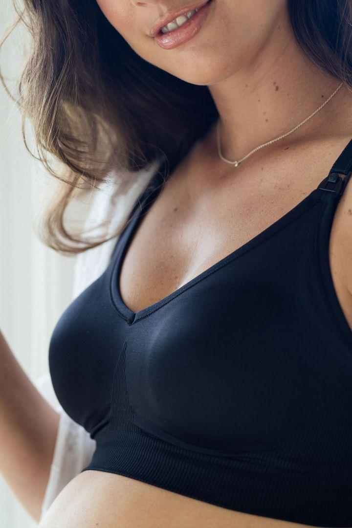 Body Silk Seamless Nursing Bra, black