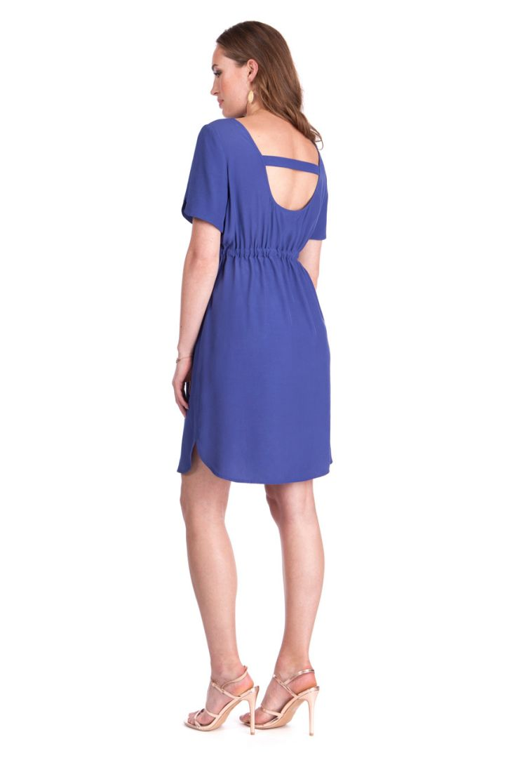 Maternity Dress with Open Back