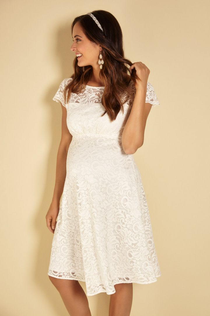 Floral Lace Maternity Wedding Dress