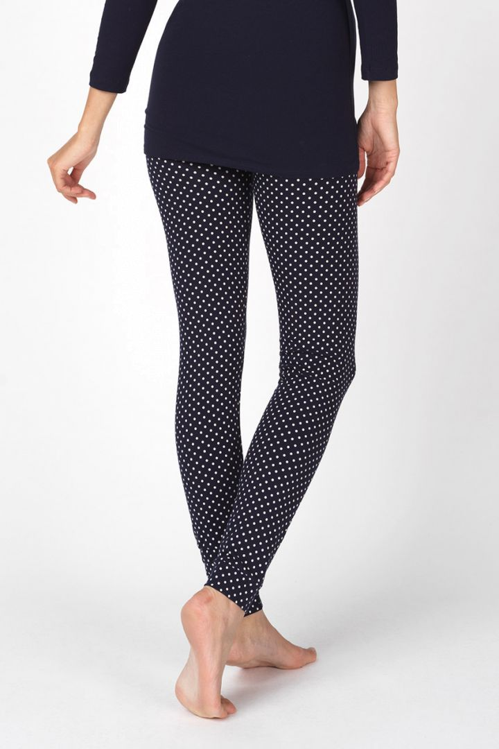 Maternity leggings made of organic cotton with polka-dot print