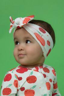 Haarband mit Apfel Print