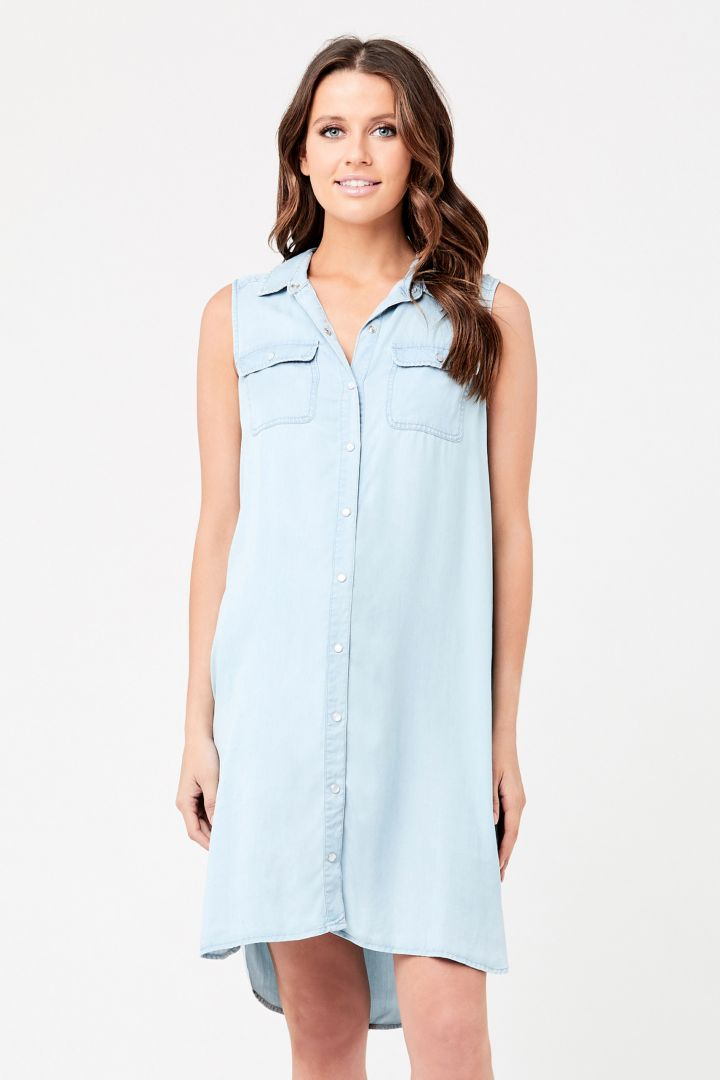 Denim Umstands- und Still-Shirtkleid