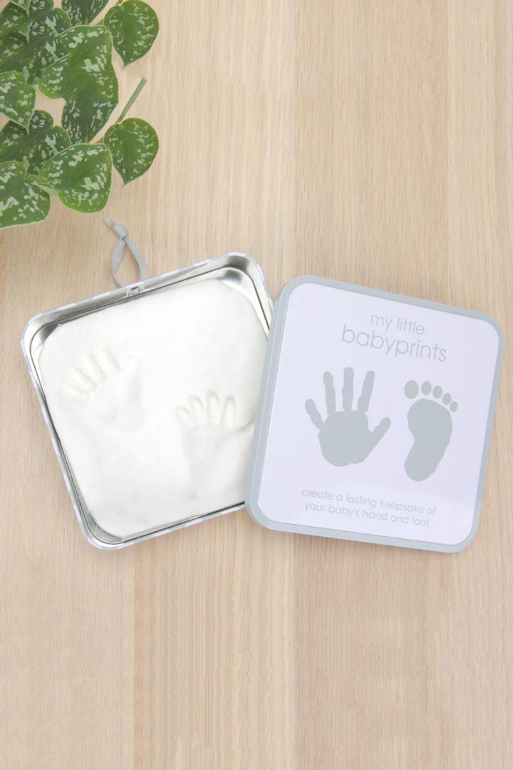 Baby Hand und Fuß Abdruckset Geschenkdose