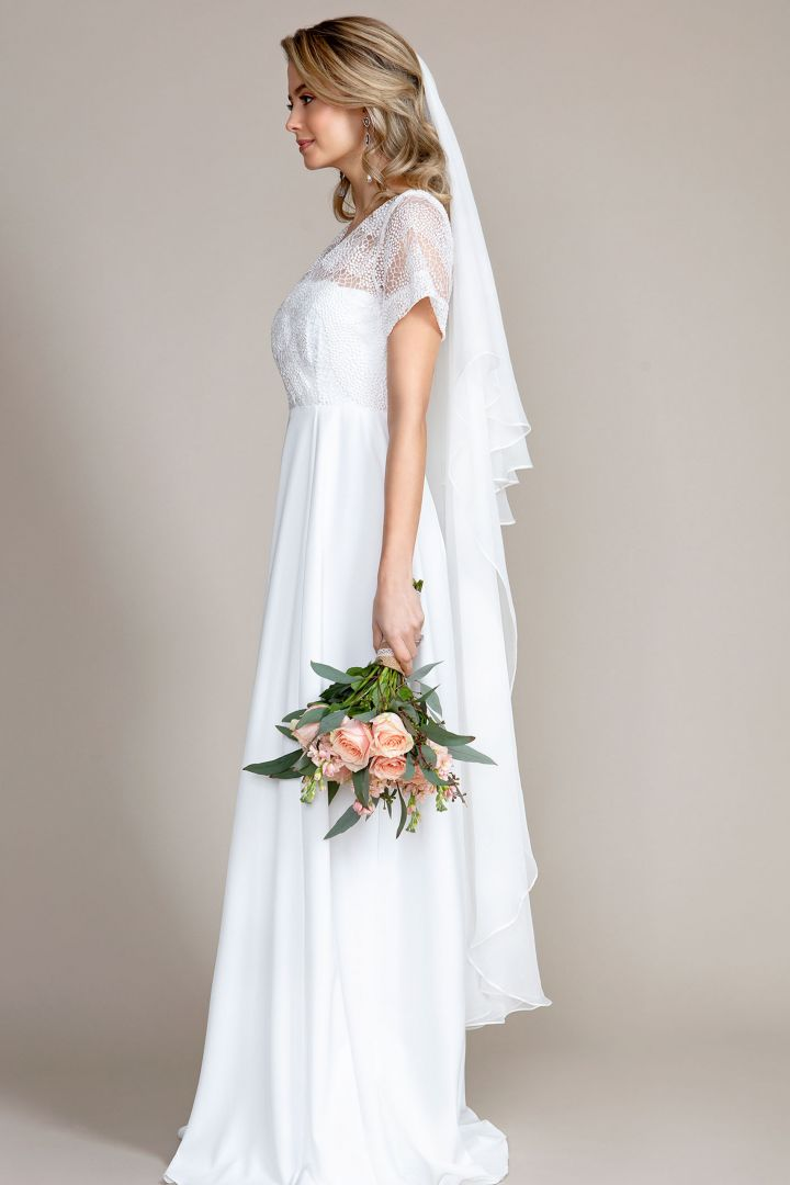 Silk Wedding Veil long