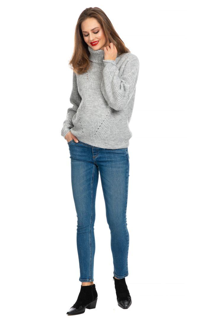 Umstandsjeggings aus Baumwolle medium blue