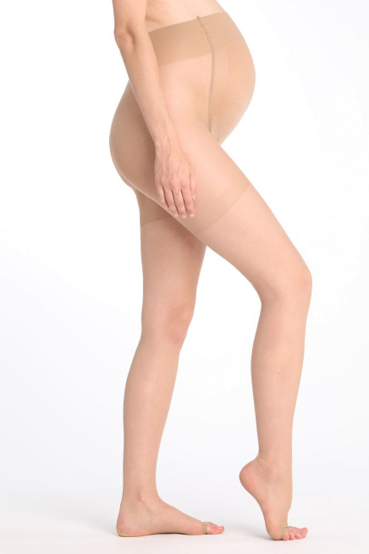 Peep-toe Maternity Tights 15 den skin