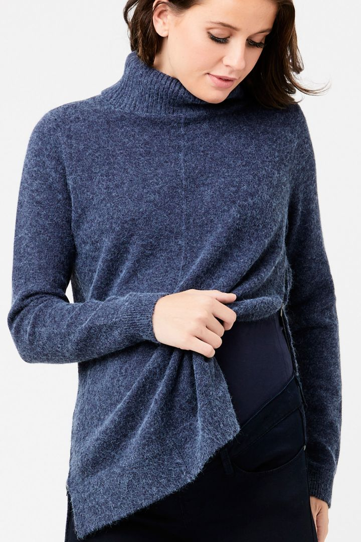 Maternity and nursing jumper with side zipper