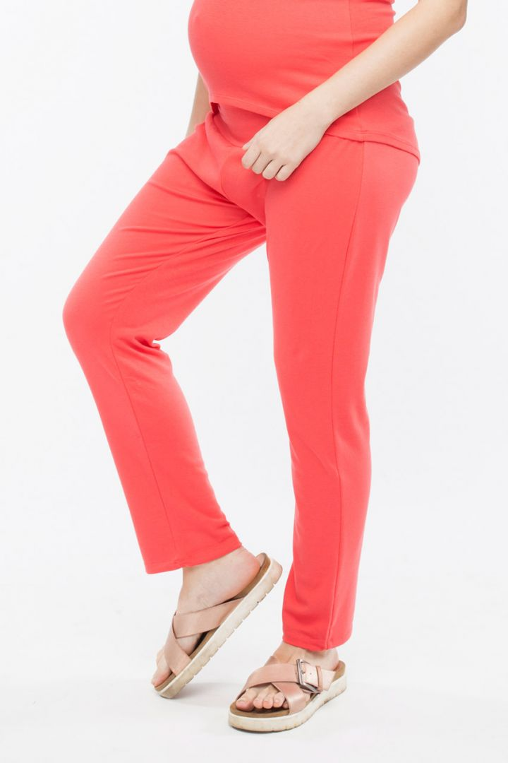 Maternity lounge pants coral