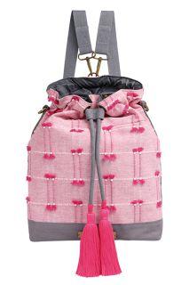 Bucket Rucksack und Wickeltasche Flowing Sari