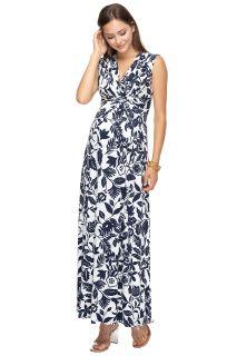 Maxi Umstands- und Stillkleid mit Blumenprint