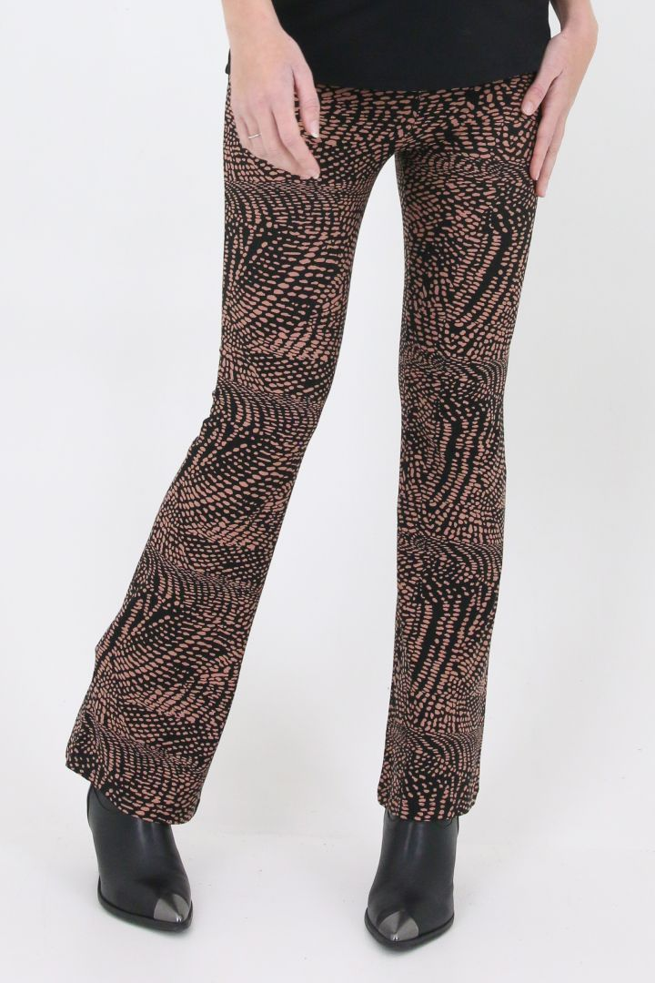 Flared Maternity Trousers with Alloverprint