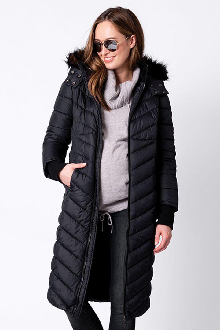 3 in 1 Eco Maternity Coat black